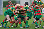 S. Kata gets wrapped up by the Drury defence. Counties Manukau Premier Club Rugby round 5 game between Waiuku and Drury played at Waiuku on the 12th of May 2007. Waiuku led 33 - 0 at halftime and went on to win 57 - 5.
