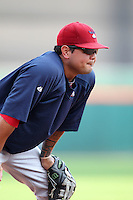 Lehigh Valley IronPigs Dane Sardinha during a game vs. the Buffalo Bisons at Coca-Cola Field in Buffalo, New York;  August 1, 2010.  Buffalo defeated Lehigh Valley 2-1 in 10 innings.  Photo By Mike Janes/Four Seam Images