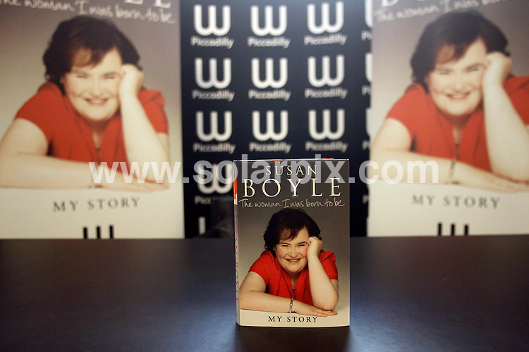 **ALL ROUND PICTURES FROM SOLARPIX.COM**                                             **WORLDWIDE SYNDICATION RIGHTS**                                                                                  Caption:  .Susan Boyle arrives at Waterstones Piccadilly, to sign copies of her new book  in London                                                                             This pic: Susan Boyle                                                                                             JOB REF: 12322       LNJ       DATE:  16.10.2010                                                          **MUST CREDIT SOLARPIX.COM OR DOUBLE FEE WILL BE CHARGED**                                                                      **MUST AGREE FEE BEFORE ONLINE USAGE**                               **CALL US ON: +34 952 811 768 or LOW RATE FROM UK 0844 617 7637**
