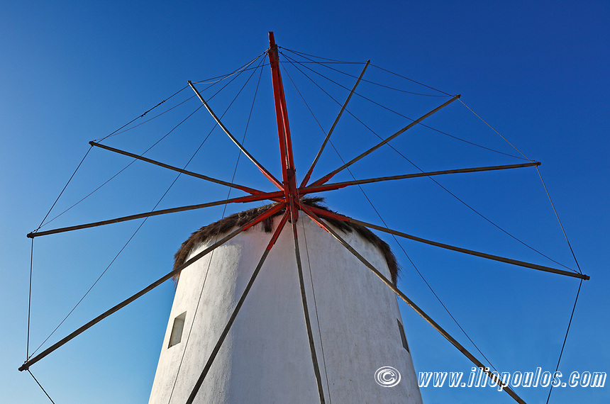 A windmill of Mykonos, Greece
