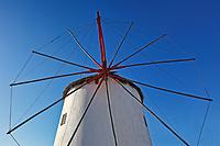 A windmill of Mykonos, Greece