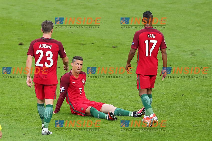 Infortunio Cristiano Ronaldo Portugal Injured <br /> Paris 10-07-2016 Stade Saint Denis Football Euro2016 Portugal - France / Portogallo - Francia Final - Finale <br /> Foto Gwendoline Le Goff / Panoramic / Insidefoto