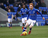 Oldham Athletic's Ben Pringle (On loan from Preston) during the Sky Bet League 1 match between Oldham Athletic and Rotherham United at Boundary Park, Oldham, England on 13 January 2018. Photo by Juel Miah / PRiME Media Images.