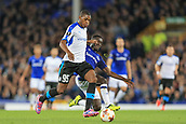 28th September 2017, Goodison Park, Liverpool, England; UEFA Europa League group stage, Everton versus Apollon Limassol; Idrissa Gueye of Everton FC tackles Alef of Apollon Limassol