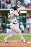 Kane County right fielder Matt Sulentic (5) follows through on his swing versus Dayton at Fifth Third Field in Dayton, OH, Monday, May 7, 2007.