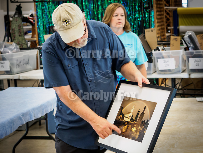 Judging of the Professional Photography entries at the 79th Amador County Fair, Plymouth, Calif.<br /> <br /> Judge Randy Allen.<br /> <br /> Best Scenes of Amador County, Professional: St. Sava Jackson Rainbow by Larry Angier<br /> <br /> A hat's off to Leslie and David Schupp and their great crew of volunteers who take it all in, set-up for the judging then in a short time, hang nearly 400 entries for everyone to enjoy!<br /> <br /> #DavidSchupp, #LeslieSchupp, #AmadorCountyFair, #TourAmador, #VisitAmador, #Photography, #AmadorCountysPhotographers, #LarryAngier, #StSavaJackson