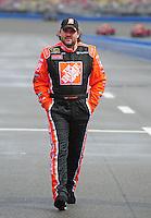 Feb 24, 2008; Fontana, CA, USA; NASCAR Sprint Cup Series driver Tony Stewart prior to the Auto Club 500 at Auto Club Speedway. Mandatory Credit: Mark J. Rebilas-US PRESSWIRE