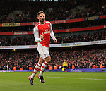 Arsenal's Olivier Giroud celebrates scoring his sides opening goal<br /> <br /> Barclays Premier League - Arsenal vs Aston Villa - Emirates Stadium  - England - 1st February 2015 - Picture David Klein/Sportimage