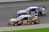 Clint Bowyer, (#15) and Travis Kvapil, (#93)