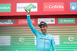 Omar Fraile (ESP) Astana Pro Team wins the days combativity prize at the end of Stage 17 of the La Vuelta 2018, running 157km from Getxo to Balc&oacute;n de Bizkaia, Spain. 12th September 2018.                   <br /> Picture: Unipublic/Photogomezsport | Cyclefile<br /> <br /> <br /> All photos usage must carry mandatory copyright credit (&copy; Cyclefile | Unipublic/Photogomezsport)