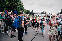 Tony Gallopin (FRA/AG2R-LaMondiale) rolled into the finish zone after yet another hard day on the bike<br /> <br /> Stage 7: Moûtiers > Saint-Gervais Mont Blanc (129km)<br /> 70th Critérium du Dauphiné 2018 (2.UWT)