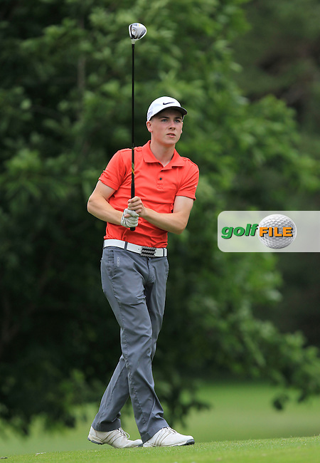 Josh Hogan (Fota Island) on the 16th tee during Round 1 of the 2016 Leinster Boys Amateur Open Championship at Mullingar Golf Club on Tuesday 21st June 2016.<br /> Picture:  Golffile | Thos Caffrey