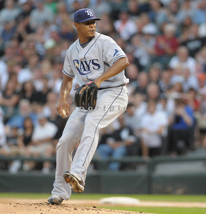 EDWIN JACKSON, of the Tampa Bay Rays , in action during the Rays game against the Chicago White Sox, in Chicago, IL  on August 24, 2008..The Chicago White Sox  won 6-5