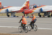 "- Spanish Air Force, air acrobatic team ?Patrulla Aguila? with CASA C-101 Mirlo aircrafts....- Aeronautica militare spagnola, pattuglia acrobatica ""Patrulla Aguila"" con aerei CASA C-101 Mirlo"