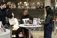 BROOKLYN, NEW YORK- JANUARY 10: Visual Artist Hank Willis Thomas signs copies of his new book ' All Things Being Equal' after his talk at the Brooklyn Museum on January 10, 2019 in Brooklyn, New York City.    <br /> CAP/MPI43<br /> ©MPI43/Capital Pictures