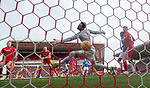 03.03.2019 Aberdeen v Rangers: Joe Lewis beaten by Joe Worrall