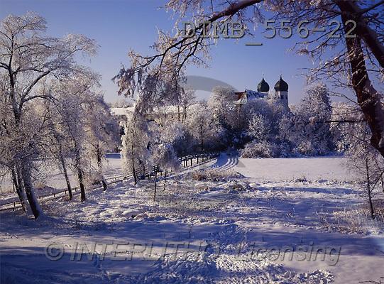 Gerhard, CHRISTMAS LANDSCAPE, photos, D.Rauhreiftag am Kloster Seon.Chiemgau(DTMB556-22,#XL#) Landschaften, Weihnachten, paisajes, Navidad