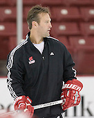 Assistant Coach Mark Osiecki played for the Badgers from 1987-1990. The University of Wisconsin Badgers participate in a morning skate on Saturday, October 28, 2006 at the Kohl Center in Madison, Wisconsin.  The Badgers played host to the Boston College Eagles for a weekend series, the first meetings between the teams since Wisconsin defeated Boston College for the national championship in April 2006.<br />