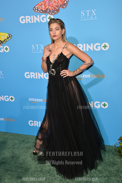 Paris Jackson at the world premiere for &quot;Gringo&quot; at the L.A. Live Regal Cinemas, Los Angeles, USA 06 March 2018<br /> Picture: Paul Smith/Featureflash/SilverHub 0208 004 5359 sales@silverhubmedia.com