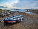 County Galway, Ireland: Row boats on the shore of Bertraghboy Bay near the village of Roundstone