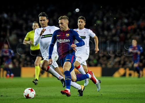 29th November 2017, Camp Nou, Barcelona, Spain; Copa Del Rey, Barcelona versus Real Murcia; Catalan player Gerard Deulofeu