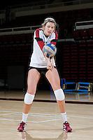 STANFORD, CA - AUGUST 13, 2013 - Merete Lutz of the Stanford Women's Volleyball team.