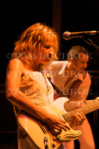 Ana Popovic plays the blues at Bamfest  in Belleville Wisconsin on July 14, 2007 just south of Madison