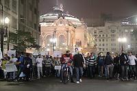 SÃO PAULO, SP - 20.06.2013: 7 GRANDE ATO PASSE LIVRE - Manifestantes caminham pelo centro da cidade rumo a Camara de São Paulo no 7º Grande Ato Contra O Aumento da Tarifa nesta 5 feira (20) (Foto: Marcelo Brammer/Brazil Photo Press)