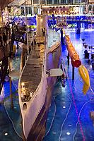 Estonia, Tallinn,  Seaplane Harbour. Museum for boats and planes in plane hangar.