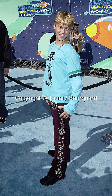 Aaron Carter arriving at The 14th Annual Kids Choice Awards from NickelOdeon at the Barker Hangar in Santa Monica, Los Angeles  4/21/2001  CarterAaron06A.JPG