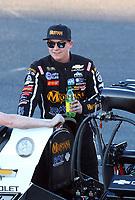 Feb 23, 2019; Chandler, AZ, USA; NHRA top fuel driver Austin Prock during qualifying for the Arizona Nationals at Wild Horse Pass Motorsports Park. Mandatory Credit: Mark J. Rebilas-USA TODAY Sports