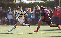 Berkeley, CA - March 25, 2017: The Cal Bears Rugby Team vs St. Mary's College at Witter Rugby Field. Final score Cal Bears 24, St. Mary's Gaels 27.