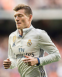 Toni Kroos of Real Madrid celebrates during their La Liga 2016-17 match between Real Madrid and Malaga CF at the Estadio Santiago Bernabéu on 21 January 2017 in Madrid, Spain. Photo by Diego Gonzalez Souto / Power Sport Images