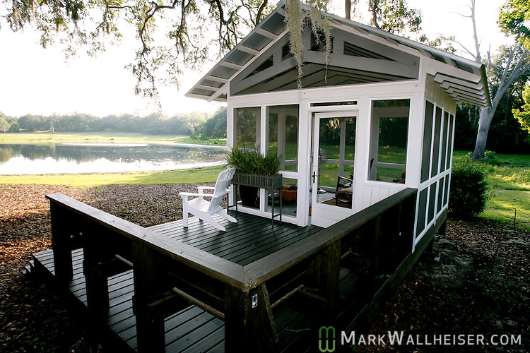 The finished Southern Living Magazine Idea House at St Joe's White Fence Farms six miles east of Tallahassee, Florida
