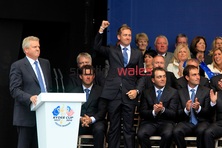 30/09/2010 European Tour 2010,  38th RYDER CUP, The Celtic Manor Resort, Twenty Ten Course, City of Newport, Wales, UK. 01-03 Oct.  EUROPE Team: {player of country} during the Opening Ceremony.