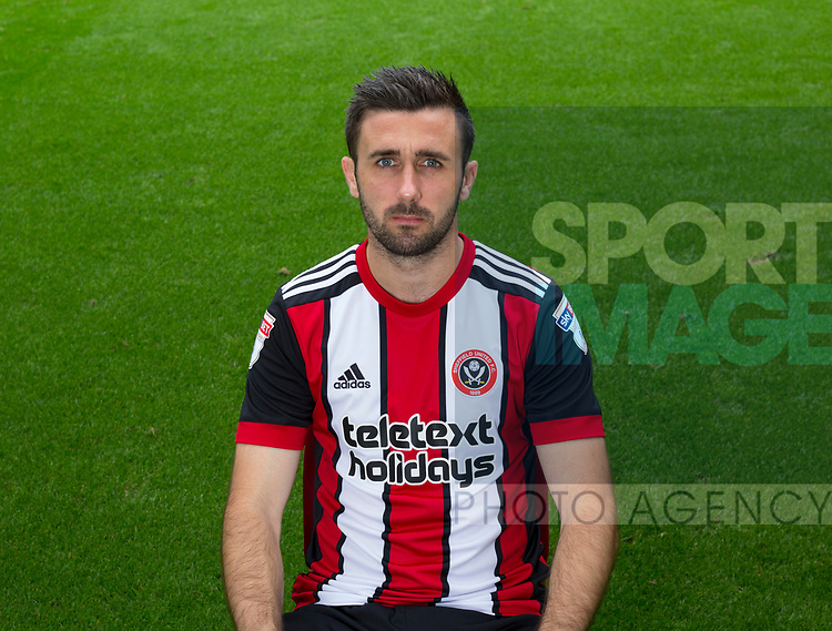 Daniel Lafferty of Sheffield Utd during the 2017/18 Photocall at Bramall Lane Stadium, Sheffield. Picture date 7th September 2017. Picture credit should read: Sportimage