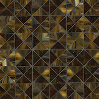 Christopher G2, a handmade mosaic shown in Tortoise Shell jewel glass, is part of the Illusions™ collection by Sara Baldwin for New Ravenna.