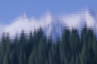 Abstract picture of Surveyor Lake a Canadian lake in British Columbia.