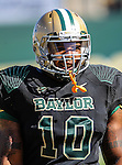 Baylor Bears defensive end Gary Mason (10) in action during the game between the Southern Methodist Mustangs and the Baylor Bears at the Floyd Casey Stadium in Waco, Texas. Baylor defeats SMU 59 to 24.