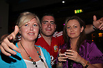 Rebecca Hanratty John Madden and Mandy Gallagher in shooters..Pic Fran Caffrey/newsfile.ie