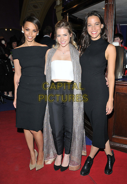 LONDON, ENGLAND - APRIL 28: Sasha Frost, Sophie Colquhoun &amp; Caroline Ford attend the &quot;Anti-Social&quot; UK film premiere, Cineworld Haymarket, Haymarket, on Tuesday April 28, 2015 in London, England, UK. <br /> CAP/CAN<br /> &copy;Can Nguyen/Capital Pictures