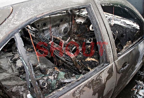Remains of an abandoned car following a severe fire..©shoutpictures.com..john@shoutpictures.com