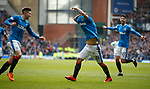 11.3.2018 Rangers v Celtic:<br /> Daniel Candeias thinks about taking off his shirt to celebrate