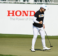 PATTAYA, THAILAND - FEBRUARY 22: Eun-Hee Ji of South Korea reaction on the 18th green during the second round of the Honda LPGA Thailand 2019 at Siam Country Club Pattaya (Old Course), Pattaya, Thailand on February 22, 2019.<br /> .<br /> .<br /> .<br /> (Photo by: Naratip Golf Srisupab/SEALs Sports Images)<br /> .<br /> Any image use must include a mandatory credit line adjacent to the content which should read: Naratip Golf Srisupab/SEALs Sports Images