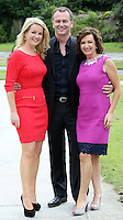 05/08/'10  Maura Derrane, Daithi O Se and Claire Byrne of '4 Daily Extra 'pictured  at the launch of RTE's new season winter schedule at Montrose this afternoon...Picture Colin Keegan, Collins, Dublin.