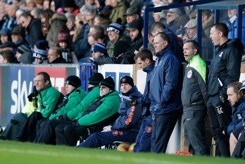 Blackpool manager Neil McDonald watches from the sidelines<br /> <br /> Photographer Craig Mercer/CameraSport<br /> <br /> Football - The Football League Sky Bet League One - Southend United v Blackpool - Saturday 21st November 2015 - Roots Hall - Southend<br /> <br /> &copy; CameraSport - 43 Linden Ave. Countesthorpe. Leicester. England. LE8 5PG - Tel: +44 (0) 116 277 4147 - admin@camerasport.com - www.camerasport.com