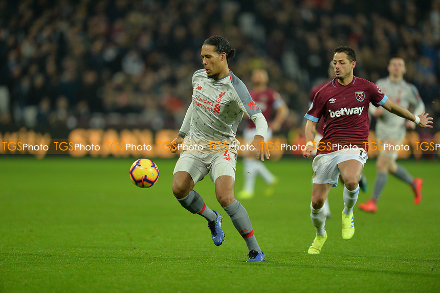 Virgil van Dijk during West Ham United vs Liverpool, Premier League Football at The London Stadium on 4th February 2019