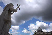 Pope Benedict XVI,  Easter Mass in St. Peter's Square, at the Vatican, 8 April 2012..
