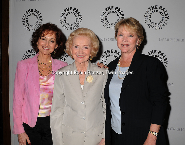 "Robin Strasser, Agnes Nixon and Erika Slezak..at The Paley Center for the 40th Anniversary of ""One Life to Live on June 10, 2008. ....Robin Platzer, Twin Images"