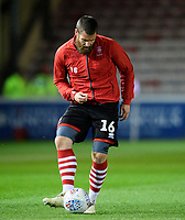Lincoln City's Michael Bostwick during the pre-match warm-up<br /> <br /> Photographer Chris Vaughan/CameraSport<br /> <br /> The EFL Sky Bet League Two - Lincoln City v Yeovil Town - Friday 8th March 2019 - Sincil Bank - Lincoln<br /> <br /> World Copyright © 2019 CameraSport. All rights reserved. 43 Linden Ave. Countesthorpe. Leicester. England. LE8 5PG - Tel: +44 (0) 116 277 4147 - admin@camerasport.com - www.camerasport.com